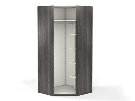 armoire penderie chambre angle 1 porte 100 cm no limit coloris frêne vente de