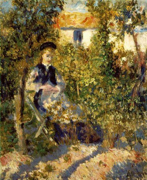 Webmuseum Renoir Pierre Auguste Nini In The Garden