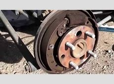 Saturn S Series Rear Brake Replacement Drum Removed
