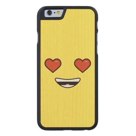 iphone 6 emoji emoji carved 174 maple iphone 6 slim zazzle