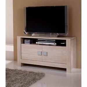 Petite Télé Pas Cher : petit meuble tv blanc pas cher ~ Dailycaller-alerts.com Idées de Décoration