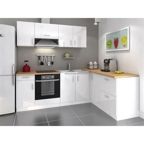 cuisine compl鑼e cosy cuisine compl 232 te 280cm laqu 233 blanc achat vente