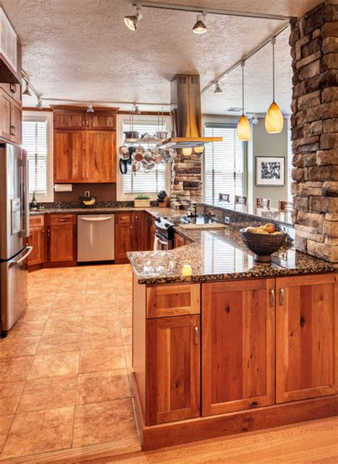 rustic cherry kitchen cabinets studio apartment remodel rustic cherry traditional 4964