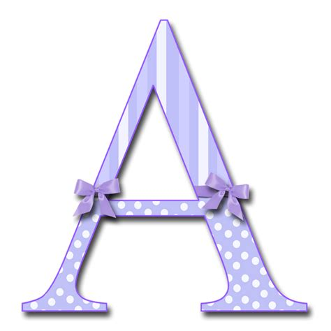 letter a png enchanted s quot purple fluff with bows quot png free 37457