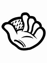 Baseball Coloring Honkbal Beisbol Dibujos Kleurplaten Colorare Ausmalbilder Kleurplaat Coloriage Glove Disegni Malvorlagen Cricket Colorear Bewegende Disegno Animaties Animatie Bild sketch template