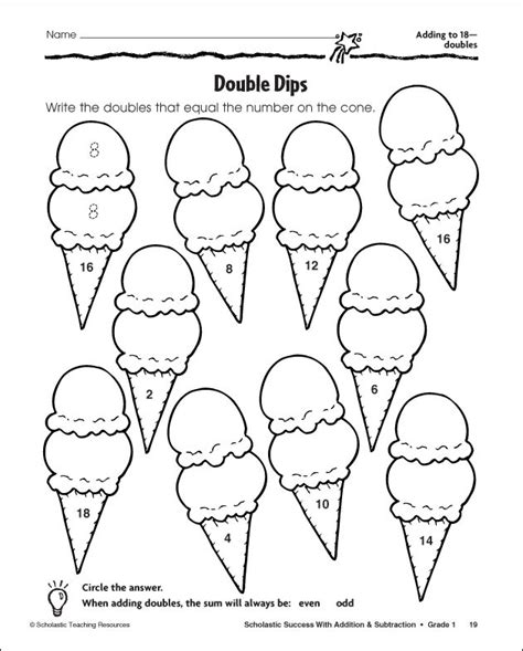 16 Best Images Of Doubles Worksheets Grade 1  Doubles Math Facts Worksheets, Doubles Plus One
