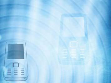 cell phone  powerpoint templates