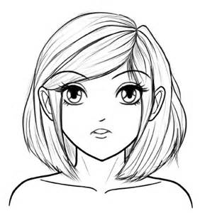 Steps How to Draw Anime Girl Face