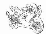 Outline Drawing Motorbike Motorcycle Coloring Zx6r Kawasaki Drawings Edit sketch template