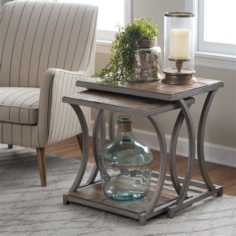 Living Room Tables For Sale by Belham Living Edison Reclaimed Wood Nesting Tables Save