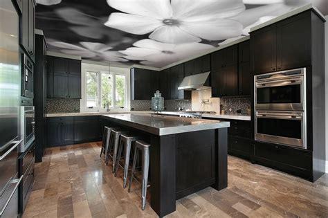 tapisserie de cuisine moderne plafond tendu et tapisserie de mur pour la décoration de