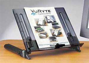 vu ryte 14 18 in line document holder pacific ergonomics With document easel