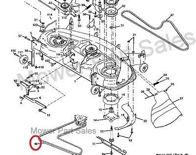 Fs5500 Craftsman Tractor Wiring Diagram by Cutter Deck Primary Drive Belt Fits Rally Re18h122