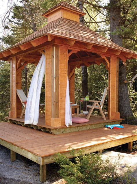 gazebo plans  diy ideas  enjoy outdoor living home  gardening ideas home design decor