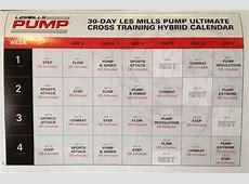 Les Mills PUMP Cross Training Hybrid Calendar Fitness