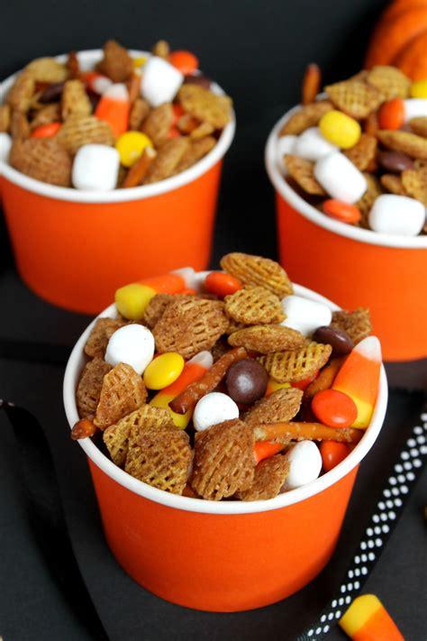 easy fall treats fall snack mix