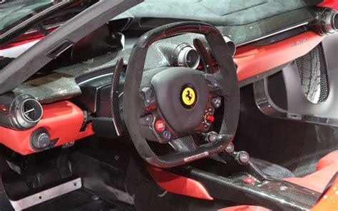 ferrari steering wheel ferrari laferrari first look motor trend