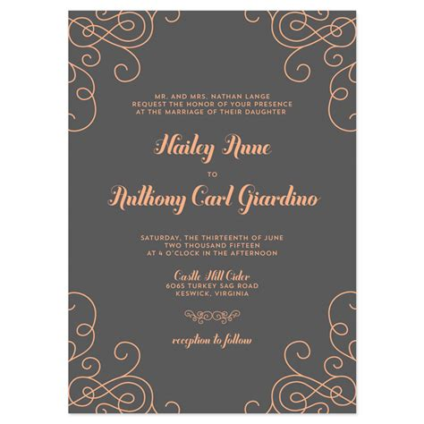 contemporary wedding invitation wording
