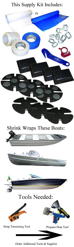 Home Boat Shrink Wrap by Small Boat Shrink Wrapping Kit For 12 24 Ft Boats