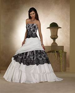 black and white wedding dress for sale With black wedding dress designers