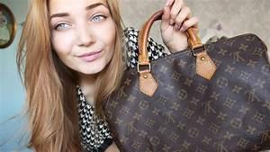 What's In My Bag Vintage Louis Vuitton Speedy 30