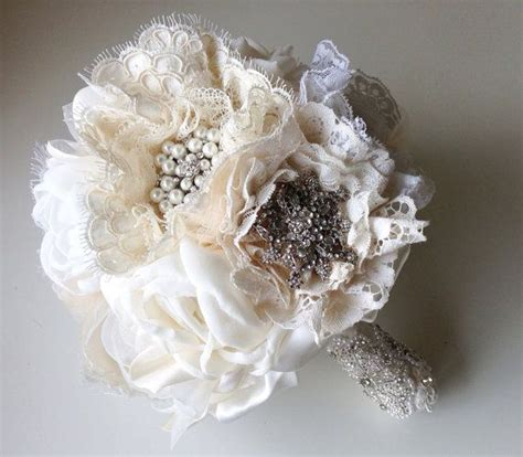 Handmade Fabric Bridal Bouquet Great Gatsby Weddings By