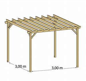 615000908 pergola bois juzina independante With exceptional plan maison en pente 10 construire un carport bois