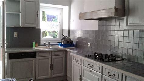 exemple de cuisine repeinte cuisine repeinte en gris