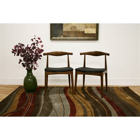 sonore solid wood mid century style accent chair dining