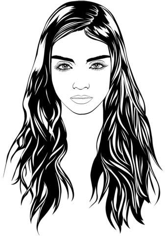 woman portrait coloring page  printable coloring pages