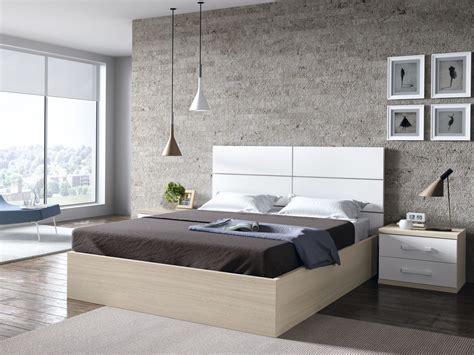 canapé casa habitación juvenil senior con canape en roble y blanco con
