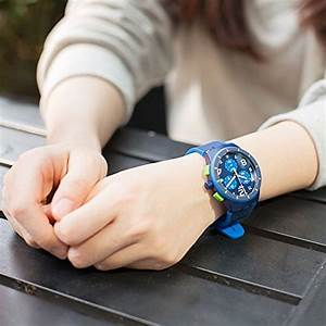 Swatch Men's Chrono Plastic SUSN409 Blue Silicone Quartz ...