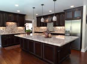 Kitchens With Dark Cabinets And White Countertops 15 different granite kitchen countertops home design lover