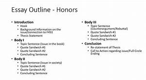 Class Schedule Outline Powell Deeon Argumentative Essay Outline
