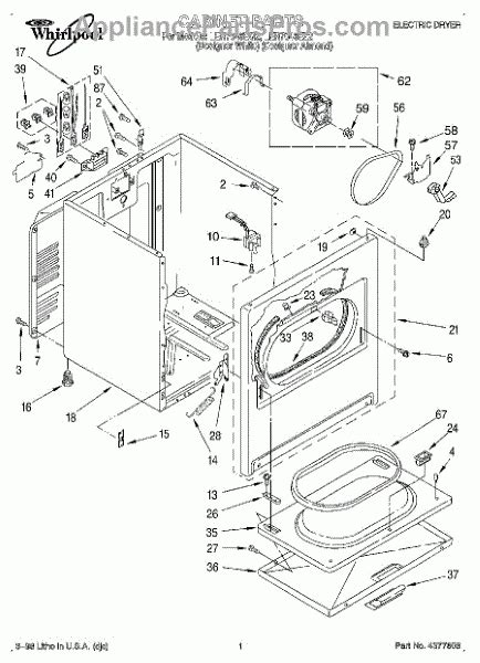 whirlpool gas dryer parts diagram automotive parts