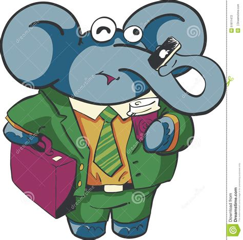 business elephant stock vector image