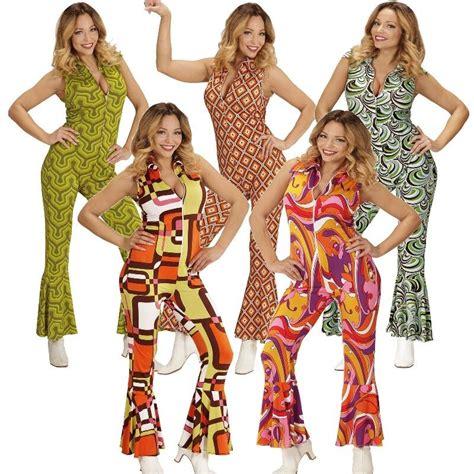 schlager damen 70er jahre jumpsuit damen kost 252 m anzug schlager retro einteiler overall 80e ebay