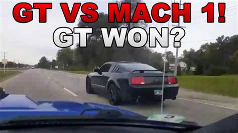 Mach 1 Vs Gt by It Happened Gt Vs Mach 1 Race The Gt Is Faster