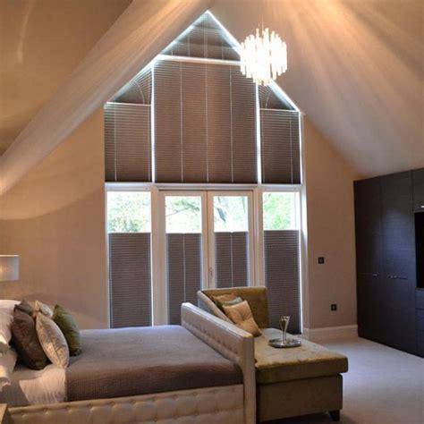 curtains  triangular shaped windows shaped windows