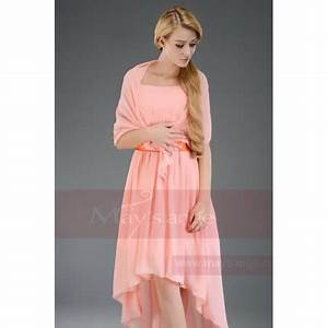toulouse asymmetrical dress pink salmon with a belt With robe cocktail toulouse