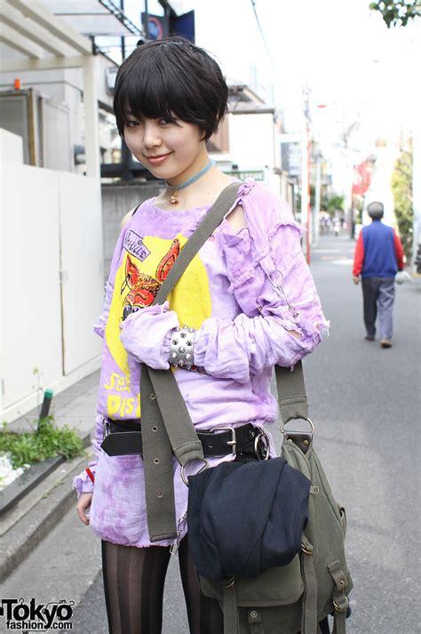 Retro Punk Japanese Street Style Harajuku