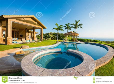 luxury house plans with pools luxury home with swimming pool stock photo image of