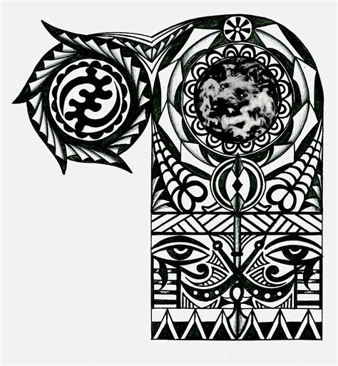 adinkra african warrior tribal  sleeve tattoo tattoocom