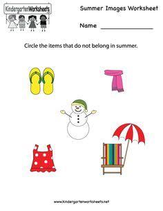 kindergarten summer math worksheet printable summer