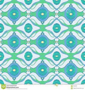 Vector Arabic Pattern In Cool Blue And Green Royalty Free