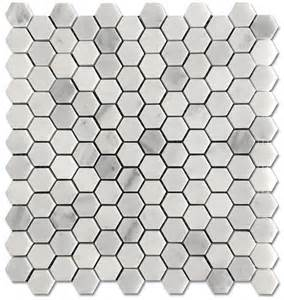 carrara pietra hexagon honed 1 quot mosaic floor and wall tile