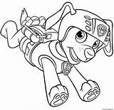 Patrol Paw Zuma Coloring Pages Printable Scuba Gear Backpack Info Running sketch template