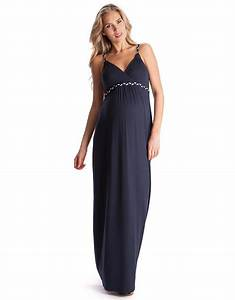 robe longue grossesse bretelles tressees bleu marine With robe maternité pas cher