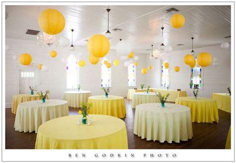 deco mariage jaune lanterne deco jaune mariage