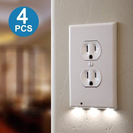 tsv 4pack led plug cover outlet with led
